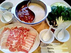 四川火鍋(シセンホーコー)とフカヒレの姿煮込みコース